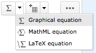 Graphical Equation Menu Buttons
